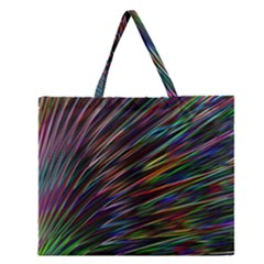 Texture Colorful Abstract Pattern Zipper Large Tote Bag