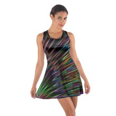 Texture Colorful Abstract Pattern Cotton Racerback Dress