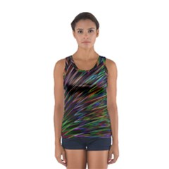 Texture Colorful Abstract Pattern Women s Sport Tank Top