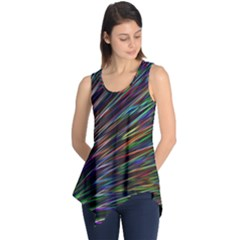 Texture Colorful Abstract Pattern Sleeveless Tunic