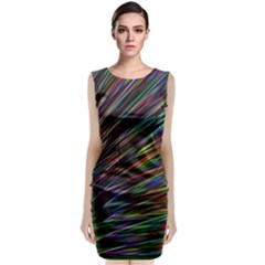 Texture Colorful Abstract Pattern Classic Sleeveless Midi Dress