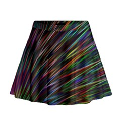 Texture Colorful Abstract Pattern Mini Flare Skirt