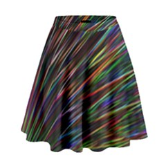 Texture Colorful Abstract Pattern High Waist Skirt