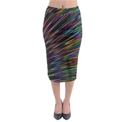 Texture Colorful Abstract Pattern Midi Pencil Skirt