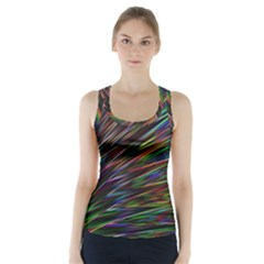 Texture Colorful Abstract Pattern Racer Back Sports Top