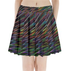 Texture Colorful Abstract Pattern Pleated Mini Skirt