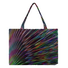 Texture Colorful Abstract Pattern Medium Tote Bag