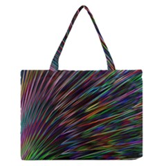 Texture Colorful Abstract Pattern Medium Zipper Tote Bag