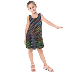 Texture Colorful Abstract Pattern Kids  Sleeveless Dress