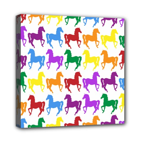 Colorful Horse Background Wallpaper Mini Canvas 8  x 8