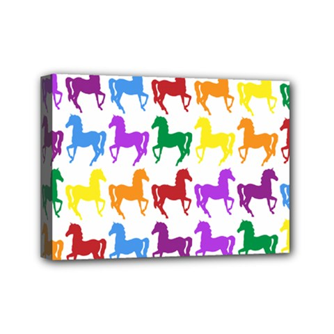 Colorful Horse Background Wallpaper Mini Canvas 7  X 5