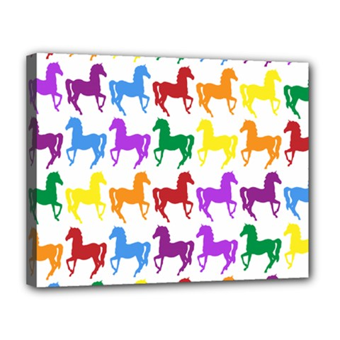 Colorful Horse Background Wallpaper Canvas 14  X 11