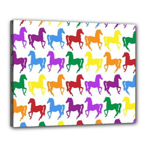 Colorful Horse Background Wallpaper Canvas 20  X 16