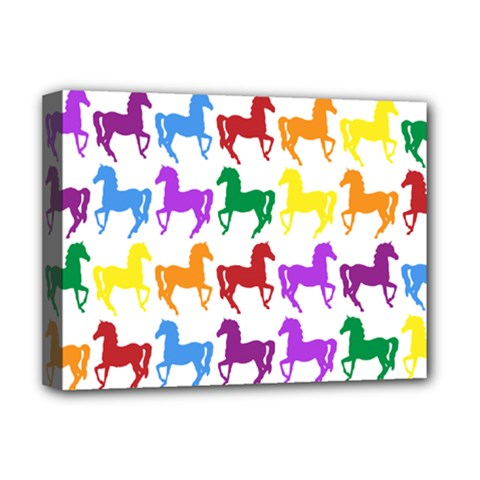 Colorful Horse Background Wallpaper Deluxe Canvas 16  X 12