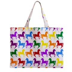 Colorful Horse Background Wallpaper Mini Tote Bag