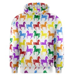 Colorful Horse Background Wallpaper Men s Zipper Hoodie