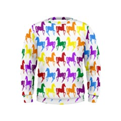 Colorful Horse Background Wallpaper Kids  Sweatshirt