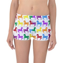 Colorful Horse Background Wallpaper Reversible Bikini Bottoms