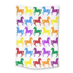 Colorful Horse Background Wallpaper Small Tapestry