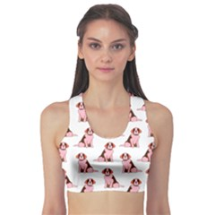 Dog Animal Pattern Sports Bra