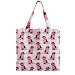 Dog Animal Pattern Zipper Grocery Tote Bag