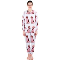 Dog Animal Pattern Onepiece Jumpsuit (ladies)