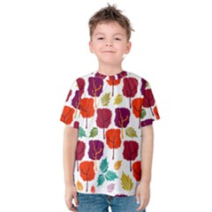 Tree Pattern Background Kids  Cotton Tee