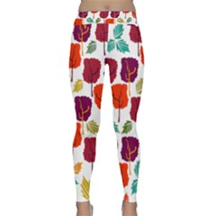 Tree Pattern Background Classic Yoga Leggings
