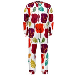 Tree Pattern Background Onepiece Jumpsuit (men)