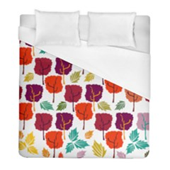 Tree Pattern Background Duvet Cover (full/ Double Size)