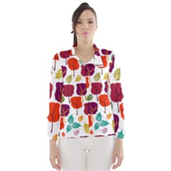 Tree Pattern Background Wind Breaker (women)