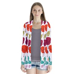 Tree Pattern Background Cardigans