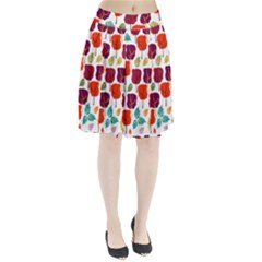 Tree Pattern Background Pleated Skirt