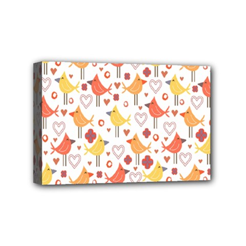 Animal Pattern Happy Birds Seamless Pattern Mini Canvas 6  X 4