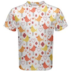 Animal Pattern Happy Birds Seamless Pattern Men s Cotton Tee