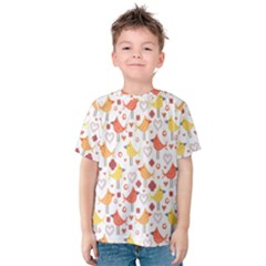 Animal Pattern Happy Birds Seamless Pattern Kids  Cotton Tee