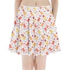 Animal Pattern Happy Birds Seamless Pattern Pleated Mini Skirt