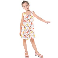 Animal Pattern Happy Birds Seamless Pattern Kids  Sleeveless Dress