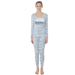 Wind Waves Grey Long Sleeve Catsuit