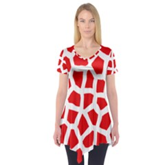 Animal Animalistic Pattern Short Sleeve Tunic
