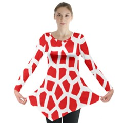 Animal Animalistic Pattern Long Sleeve Tunic