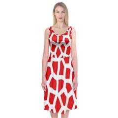Animal Animalistic Pattern Midi Sleeveless Dress