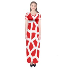 Animal Animalistic Pattern Short Sleeve Maxi Dress