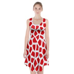 Animal Animalistic Pattern Racerback Midi Dress