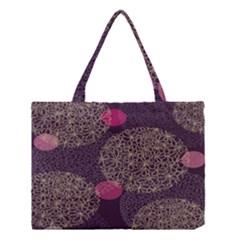 Twig Surface Design Purple Pink Gold Circle Medium Tote Bag