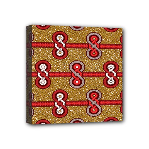 African Fabric Iron Chains Red Purple Pink Mini Canvas 4  X 4