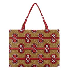 African Fabric Iron Chains Red Purple Pink Medium Tote Bag