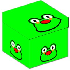 Animals Frog Face Green Storage Stool 12