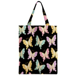 Butterfly Fly Gold Pink Blue Purple Black Classic Tote Bag