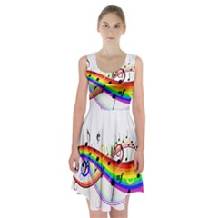 Color Music Notes Racerback Midi Dress